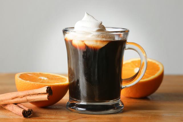 Кофе с апельсиновым фрешем