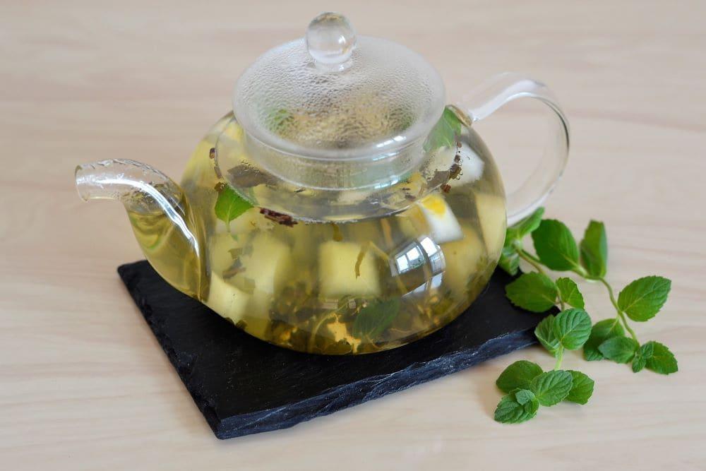 Чай с мятой и дыней