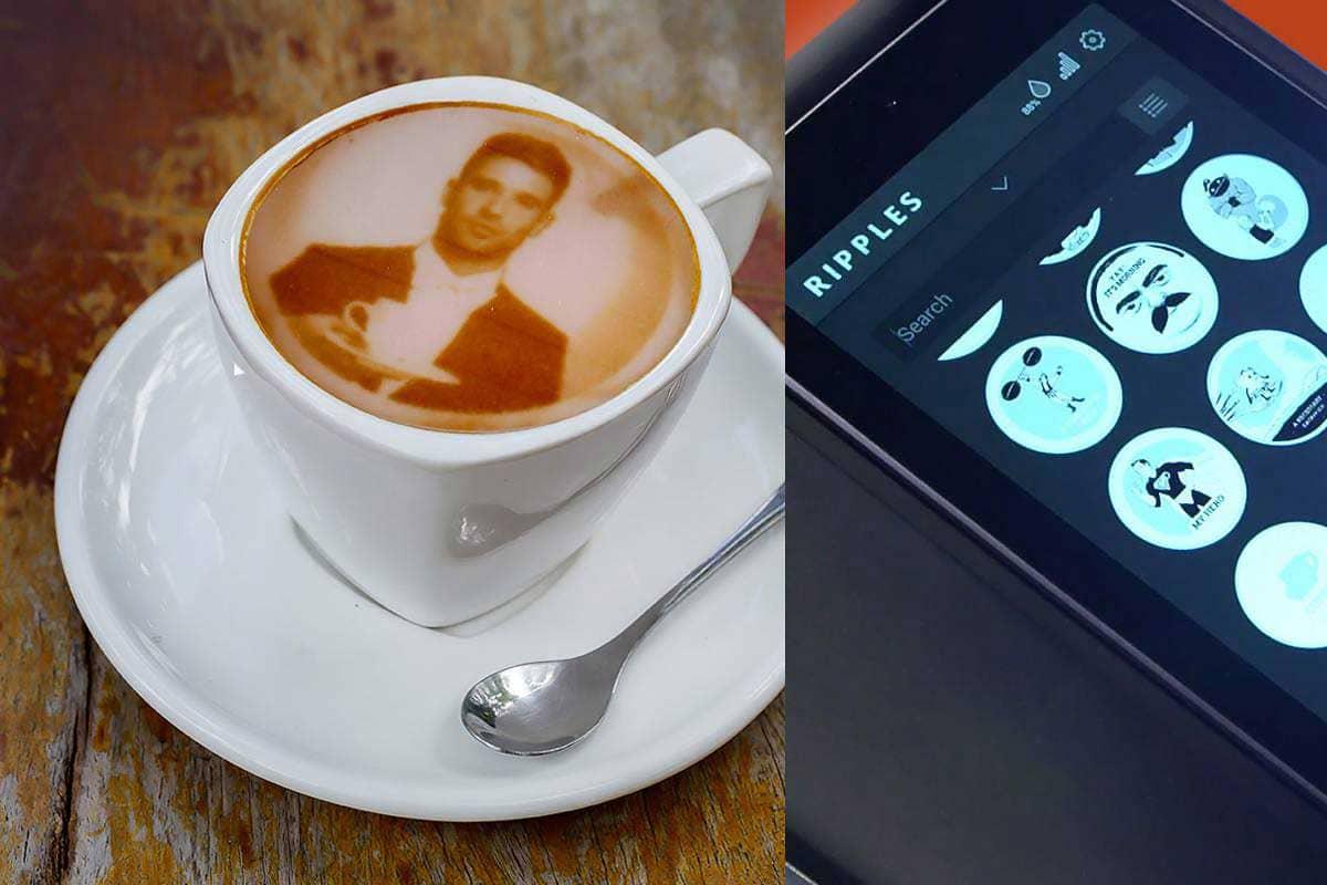 Принтер для нанесения фото на кофе